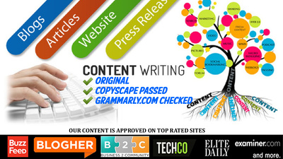 Write 400 words Creative, Copyscape Passed, Grammarly Checked & SEO Optimized Content
