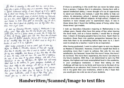 Convert upto 20 handwritten, hardcopy into word, excel, pdf and more