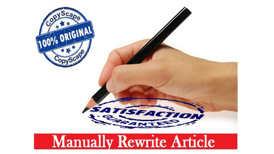 Manually rewrite up to 200 words article or content on any topic or niche