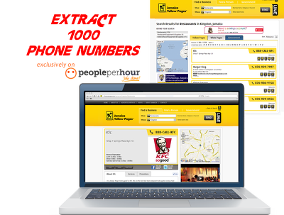 Extract 1000 Local Business Name, Phone Numbers across the UK,USA,etc From YELL & YP