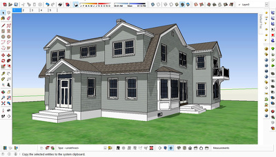 Make a sketchup model of single family residence
