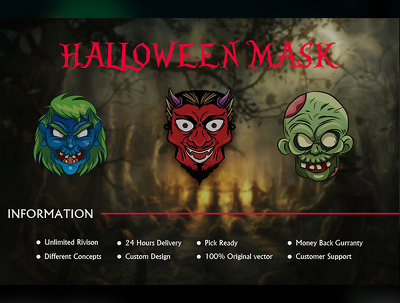 Design Halloween masks & badges