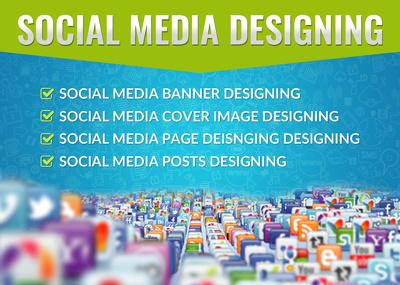 Design COVER IMAGE/ BANNER / PAGE/ POST for Social Media Website
