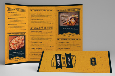 Design a very tasty menu design