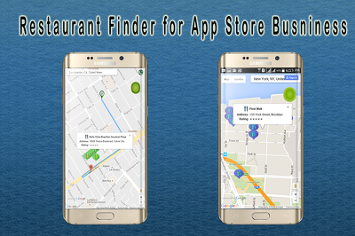 Simple Restaurant Finder App