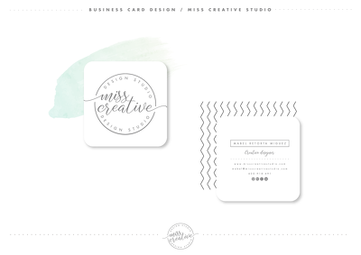 Premium business card design | compliment slip