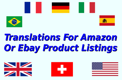 Translate your Amazon or Ebay product listings per 300 words
