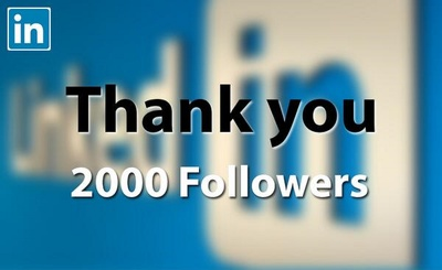 LinkedIn 2000 followers, 250 connections, 250 shares Marketing For Company Page