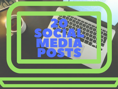 Write 20 powerful and well-researched social media updates for your company