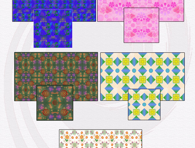 Create digital textile pattern design
