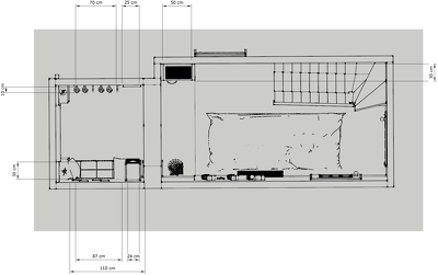 Plan your space (2D) - 100sqm