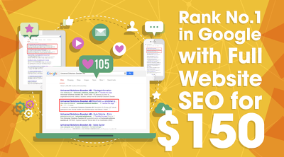 Rank your website No.1 in Google SERPS with Full Website SEO