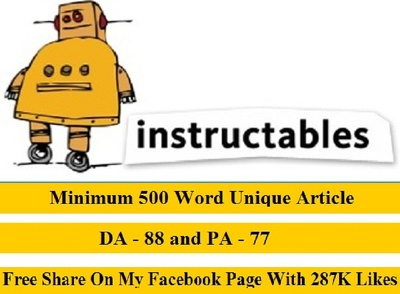 Publish Guest Post On Instructables With Backlink
