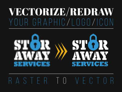 Vectorize / redraw your graphic / logo / icon...