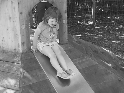 Assess your small external play area for safety