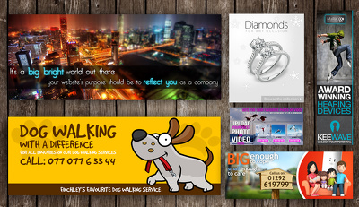 design you a Stunning Website Promo Slider/Banners