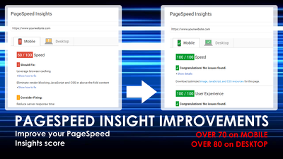 Improve your Wordpress Website PageSpeed score to 70+ on Mobile and 80+ on Desktop