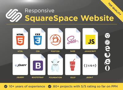 Develop your custom squarespace website
