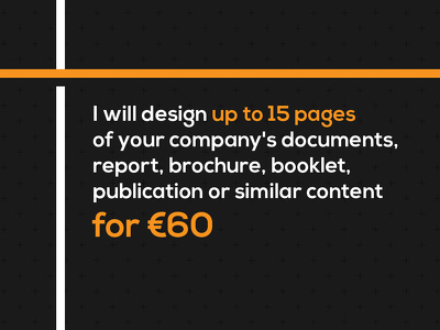 Design your company's documents / report / brochure / booklet