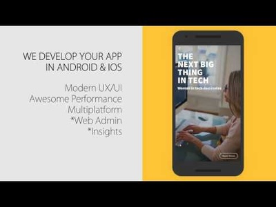 Develop your app in Android & IOS