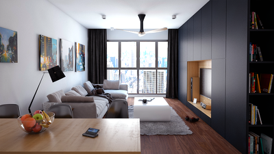 Create a photorealistic architectural rendering