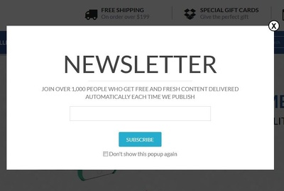 Integrate newsletter on shopify :  mailchimp / campaignmonitor /  benchmark