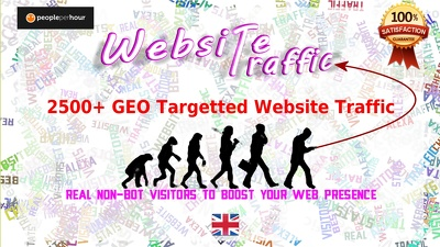 Get upto 2500 real GEO targetted traffic to your website