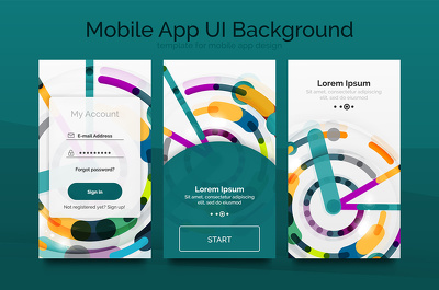 Design mobile app UI for android or ios