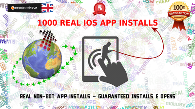 Boost iOS iPhone app ranking by 1000 real installs and opens