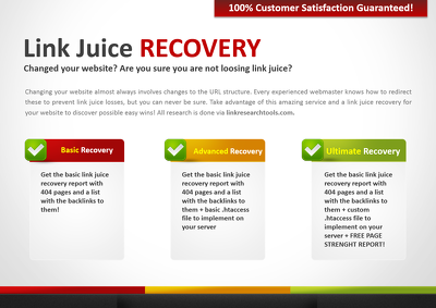 Create Link Juice Recovery Audit