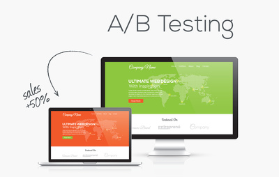 Do AB testing for one website