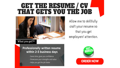 Rewrite and optimize your whole current CV / resume to make you outstanding