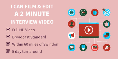 Film and edit a 2 minute interview or testimonial video