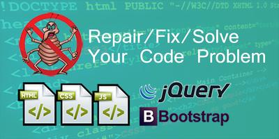 Fix HTML l CSS l Javascript l Jquery l Bootstrap error.