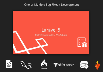 Fix Bugs or Develop in PHP, Laravel, Yii, Codeigniter, MySQL Database