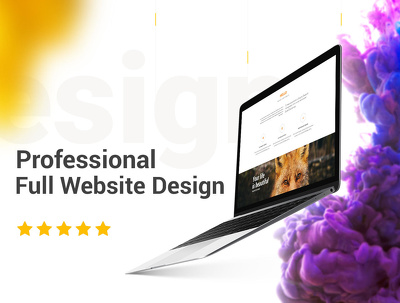 Professional Full Website Design PSD