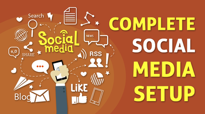 Setup creative & professional social media accounts for multiple site