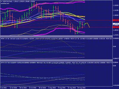 Give MT4 templates which created based on WMA indicators to identify the trend |Forex