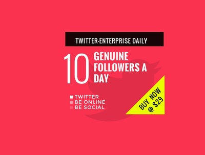 Bring 10 Twitter Followers Daily to your twitter page-Enterprise Daily