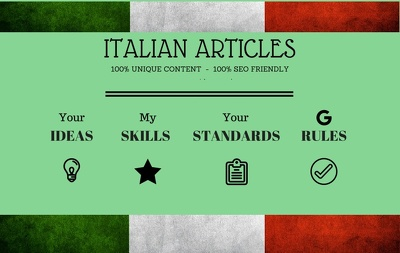 Write a researched unique 1,000 words SEO friendly articles in ITALIAN