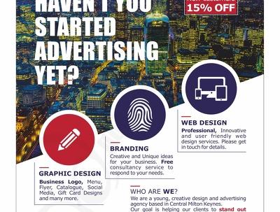Design single sided flyer/leaflet or poster