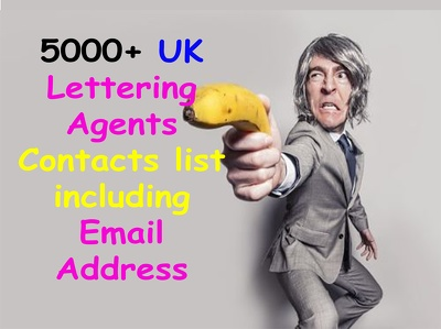 Send you 5000 plus uk b2b letting agents contacts including email address