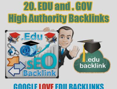20. EDU and . GOV High Authority Backlinks