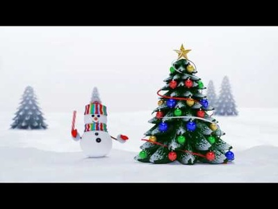 Create Christmas Greetings Video with your Company Logo or Name