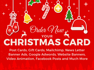 Design Christmas or New year Post Cards, Banners, Emailers, Social Posts & Animation