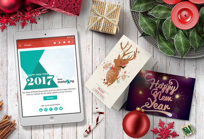 Design your Christmas / New Year Card - BOTH PRINT AND HTML
