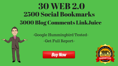 Make 30 WEB 2.0 With 2500 Social Bookmarks & 5000 Blog Comments LinkJuice