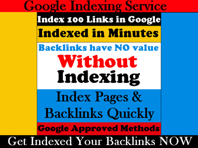 Index Your 100 Links in Google with Detailed Report for Your Website SEO