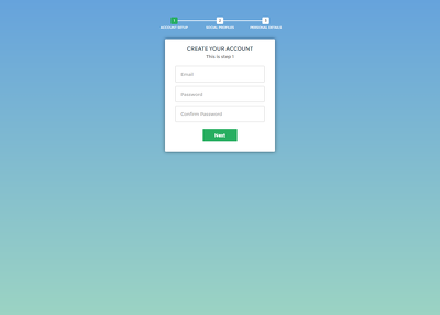 Create a multi step form with cool progress bar