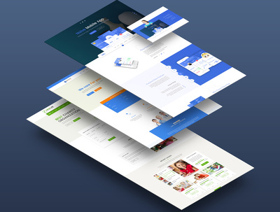 Design UI/UX website home page / landing page PSD with unlimited revision